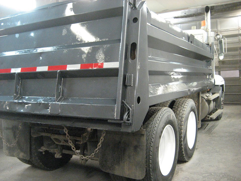 Dump Truck painted silver