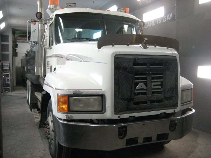 Truck Painted white